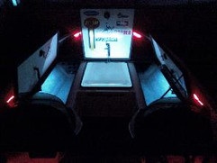 BluewaterLED Standard Boat Compartment Light kit Installed in boat.