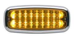 M7FC Chrome Surface Mount Flange shown with M7A LED (LED Sold Separately)