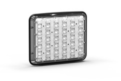 Wide LUX 9x7 A-7900 Surface Mount, Perimeter LED. Front View, Clear Lens.