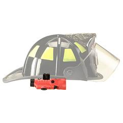 Streamlight Vantage 180 Helmet Light Mounted to a Traditional Fire Helmet.