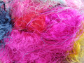 Sari Silk Fibre (Multicolour) - 50g