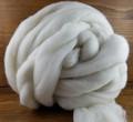 Organic Merino Top 17.5μ, White - 1lb