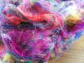Pulled Sari Silk Fibre (Multicolour) - 50g
