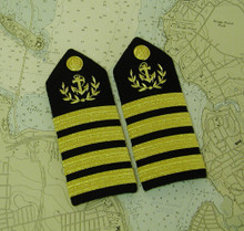 Merchant Captain hardboard epaulets.