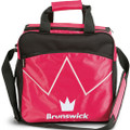 Brunswick Blitz 1 Ball Tote Bowling Bag - Hot Pink