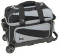 BSI 2 Ball Roller Bowling Bag - Black/Charcoal