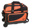 BSI 2 Ball Roller Bowling Bag - Black/Orange