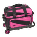 BSI 2 Ball Roller Bowling Bag - Black/Pink