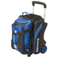 Ebonite Equinox 2 Ball Roller Bowling Bag - Black/Blue