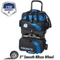 Ebonite Equinox 4 Ball Roller Bowling Bag - Black/Blue
