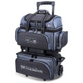 Storm Rolling Thunder 4 Ball Roller Bowling Bag - Plaid/Grey/Black