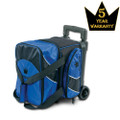 Brunswick Edge 1 Ball Roller Bowling Bag - Blue