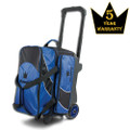 Brunswick Edge 2 Ball Roller Bowling Bag - Blue