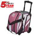 KR Strikeforce Cruiser 1 Ball Roller Bowling Bag - Scarlet/Paisley