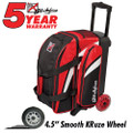 KR Strikeforce Cruiser 2 Ball Roller Bowling Bag - Red/White/Black