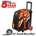 KR Strikeforce Cruiser 2 Ball Roller Bowling Bag - Orange/White/Black