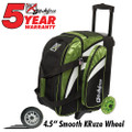 KR Strikeforce Cruiser 2 Ball Roller Bowling Bag - Lime/White/Black
