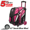 KR Strikeforce Cruiser 2 Ball Roller Bowling Bag - Pink/White/Black