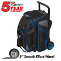KR Strikeforce Lane Rover 2 (LR2) 2 Ball Roller Bowling Bag - Black/Grey/Royal
