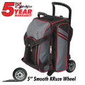 KR Strikeforce Lane Rover 2 (LR2) 2 Ball Roller Bowling Bag - Grey/Black/Red
