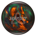 Ebonite Destiny Pearl Bowling Ball - Green/Orange/Smoke