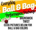 Performance Ball & Bag Package - Brunswick Twist Ball & BSI Solar Bag