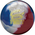 Brunswick Twist Bowling Ball - Red/White/Blue