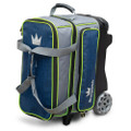 Brunswick Crown Deluxe 2 Ball Roller Bowling Bag  - Navy/Lime