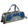 Brunswick Crown Deluxe 3 Ball Tote Bowling Bag - Navy/Lime