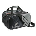 Brunswick Crown 2 Ball Tote with Shoe Pouch - Silver