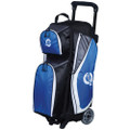Ebonite Players 3 Ball Roller Bowling Bag - Royal/White