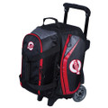 Ebonite Players 2 Ball Roller Bowling Bag - Black/Red
