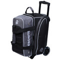 Ebonite Eclipse 2 Ball Roller Bowling Bag - Smoke