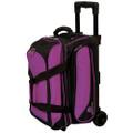 Ebonite Transport 2 Ball Roller Bowling Bag - Purple