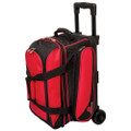 Ebonite Transport 2 Ball Roller Bowling Bag - Red