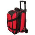 Ebonite Transport 2 Ball Roller Bowling Bag - Red