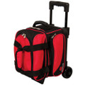 Ebonite Transport 1 Ball Roller Bowling Bag - Red