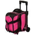 Ebonite Transport 1 Ball Roller Bowling Bag - Pink