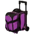 Ebonite Transport 1 Ball Roller Bowling Bag - Purple