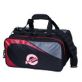 Ebonite Players 2 Ball Tote Bowling Bag w/Shoe Pouch - Black/Red
