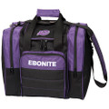 Ebonite Impact Plus 1 Ball Bowling Bag - Purple