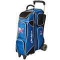 KR Strikeforce Royal Flush 4X4 Roller Bowling Bag - Royal/Black