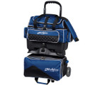 KR Strikeforce Royal Flush 4 Ball Roller Bowling Bag - Black/Royal
