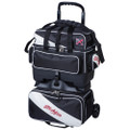 KR Strikeforce Fast 4 Ball Roller Bowling Bag - Black/White