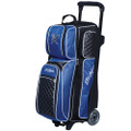 KR Strikeforce Royal Flush 3 Ball Roller Bowling Bag - Black/Royal
