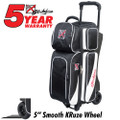 KR Strikeforce Fast 3 Ball Roller Bowling Bag - Black/White
