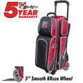 KR Strikeforce Fast 3 Ball Roller Bowling Bag - Black/Red