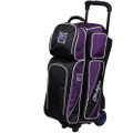 KR Strikeforce Fast 3 Ball Roller Bowling Bag - Black/Purple