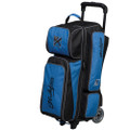 KR Strikeforce Krush 3 Ball Roller Bowling Bag - Blue/Black