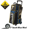 Track Premium Player 3 Ball Roller Bowling Bag - Black/Navy/Yellow